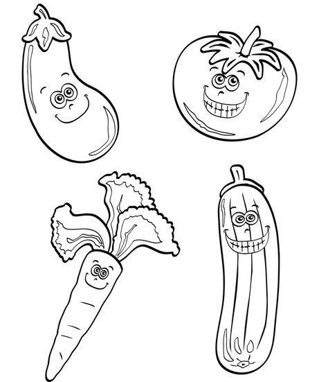 Ausmalbild Obst Und Gemuse Kostenlose Malvorlage Verschiedenes Gemuse Kostenlose Ausmalbilder Ausmalbilder Malvorlagen