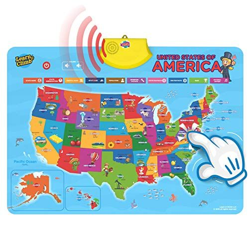 Interactive Us Map For Kids Learn & Climb United States Interactive Map for Kids Over 700