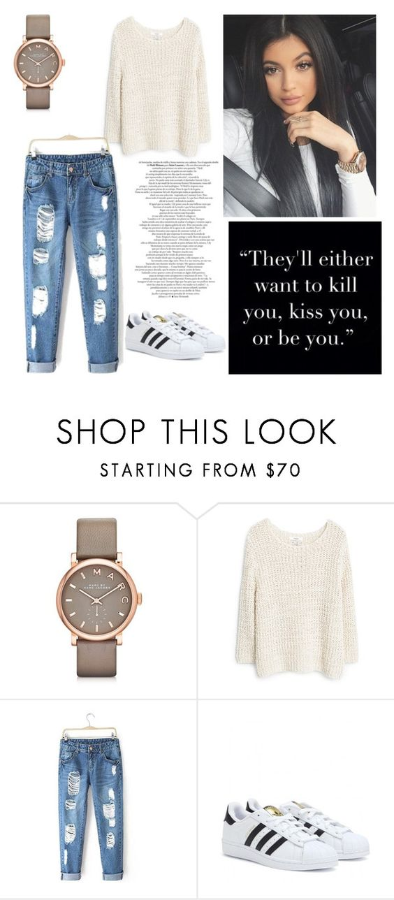 """""""k"""" by michela-a ❤ liked on Polyvore featuring Marc by Marc Jacobs, MANGO and adidas"""