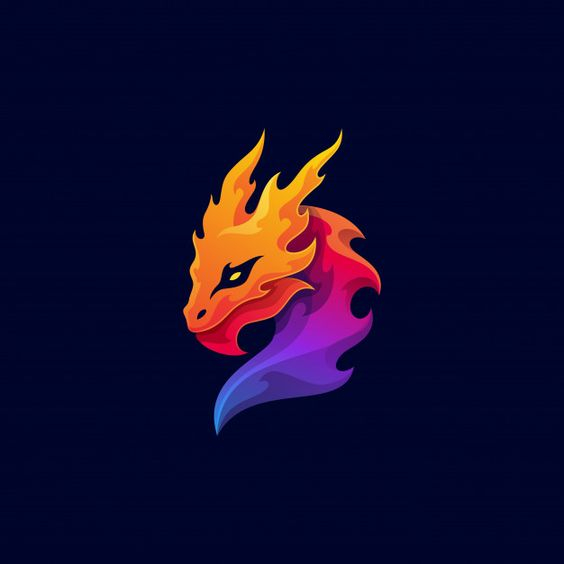 Mythological animal dragon colorful masc... | Premium Vector #Freepik #vector #logo #cartoon #animal #sports
