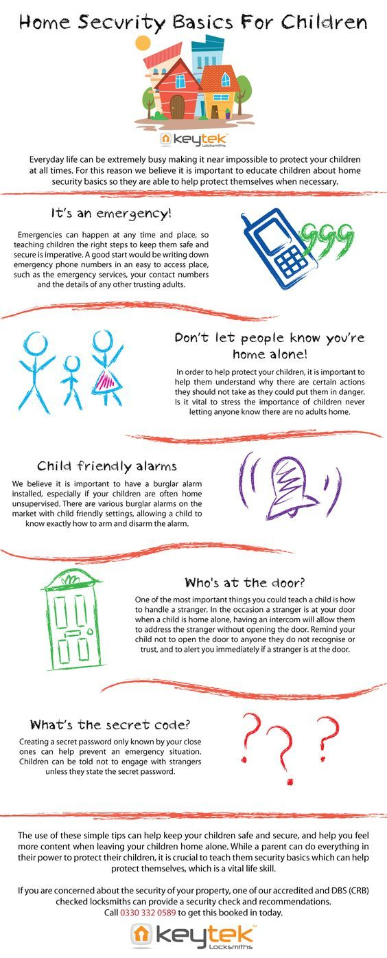 Home Security Basics For Children Home Security Home Security Tips Home Basics