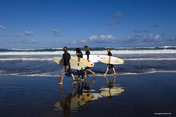 las palmas y el surf