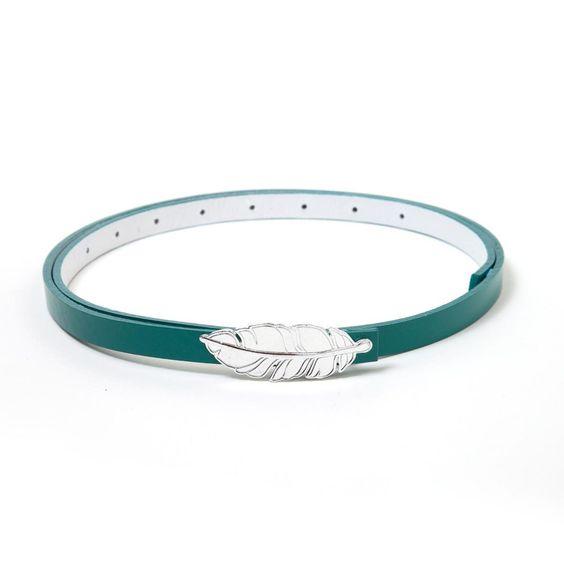 Feather Buckle - Salvador Belt Teal