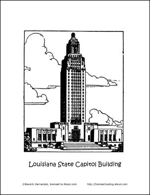 simple capitol building coloring pages