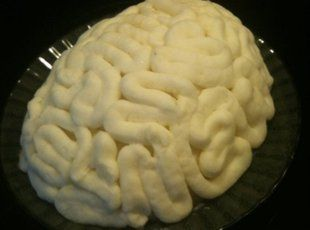 haha Brain Mashed Potatoes! What a neat idea! Can use a pastry bag or mold!