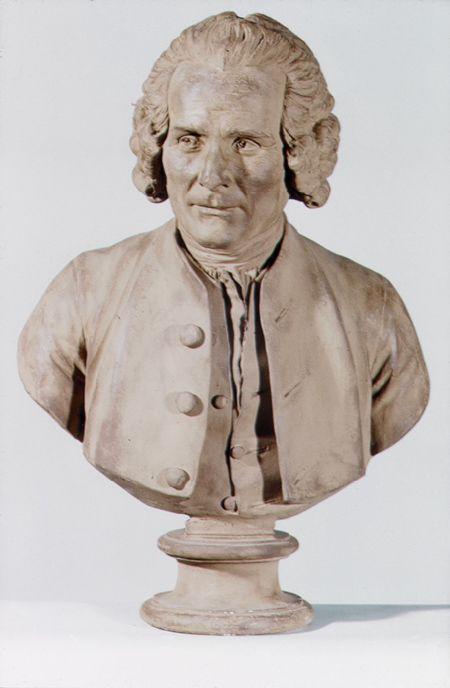 Jean-Antoine Houdon, Bust of Jean-Jacques Rousseau, c. 1778