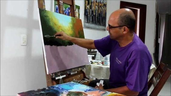 Aula de Pintura com o Prof. Costerus - Dicas e Técnicas iniciais - vídeo 1