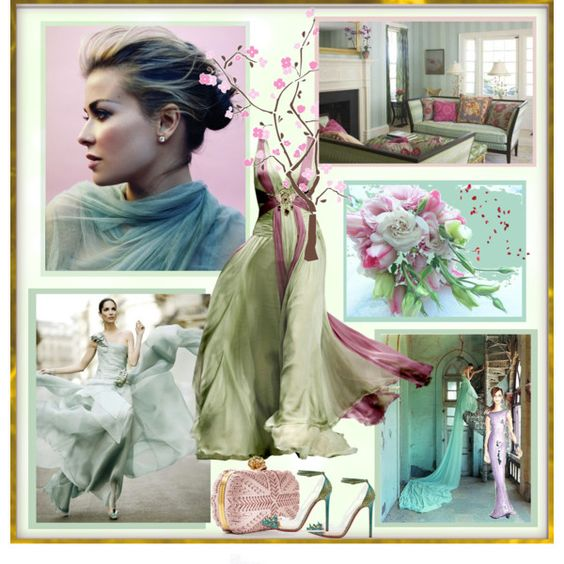 A wisp of mint, created by elegancerules.polyvore.com