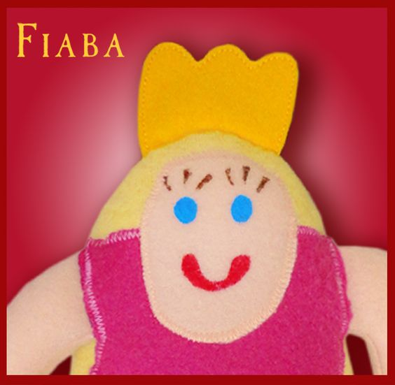 """""""Die Prinzessin"""" – Draw Your Cuddle   Fiaba  Entzückendes Püppchen nach einer Kinderzeichnung"""