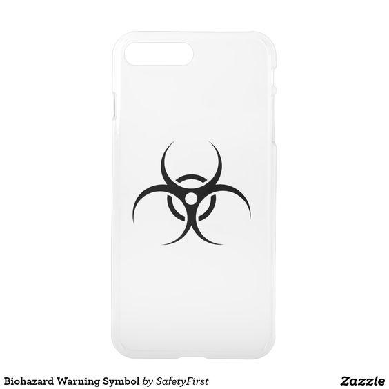 biohazard warning symbol iphone 7 plus case
