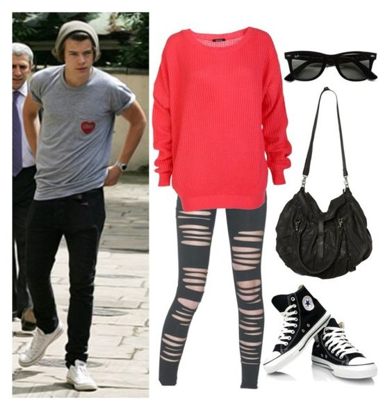 """""""Ride with Harry"""" by lol-bieber ❤ liked on Polyvore featuring Ray-Ban and AllSaints"""