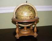 Vintage Globe with Astrological Signs
