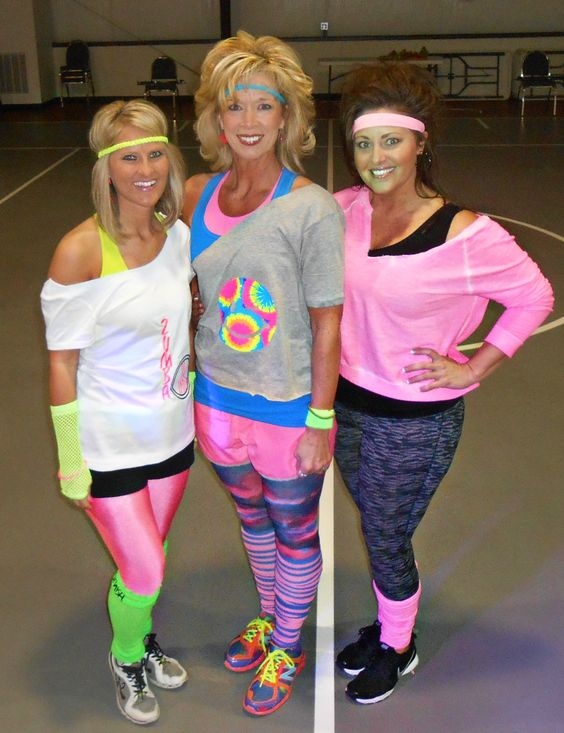 80s attire for Cosmic Zumba! weworkout