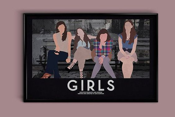 Pin for Later: Great Gifts For That Friend Who Can't Stop Watching Girls  Minimalist Print ($18)