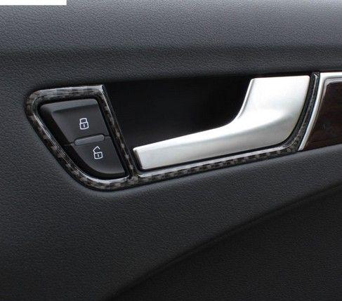 Interior car door handles Town Car Lincoln Carbon Fiber Door Handles Frame Cover Trim Auto Accessories Interior Car Doorknob Box Modified Strip 3d Stickers For Audi A4 A5 Mbworld Carbon Fiber Door Handles Frame Cover Trim Auto Accessories Interior
