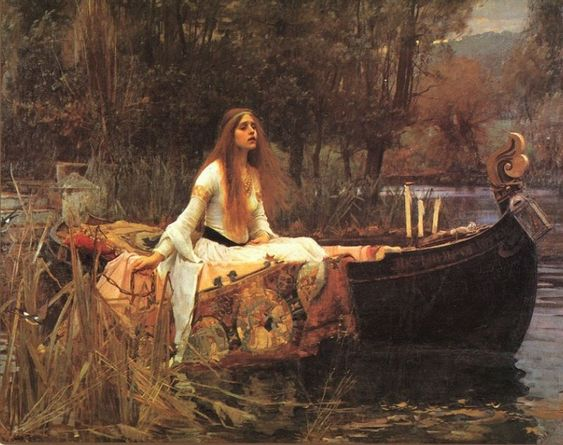 The Lady ofShalott- John William Waterhouse, 1888   One of my favorites!