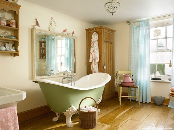 The bathroom in Donna & Paul Flower's farmhouse located near Bideford in Devon.