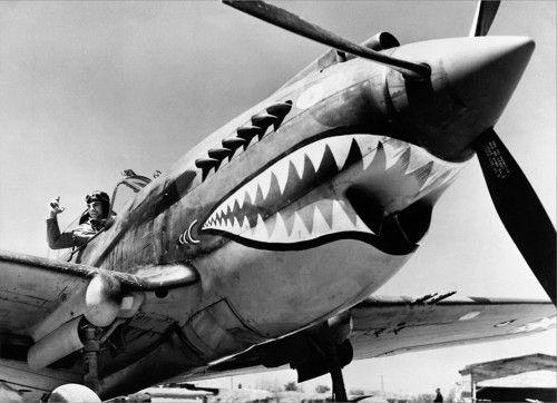 shark-faced fighter #plane