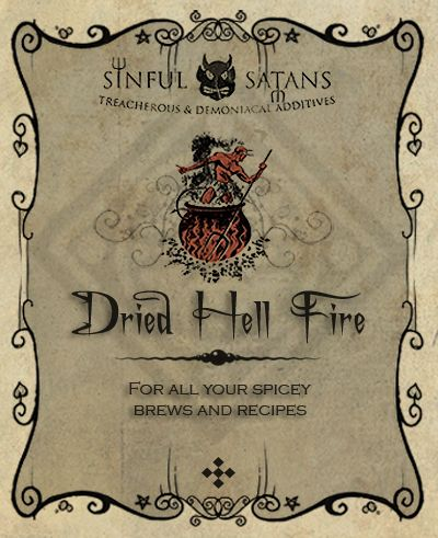 """Dried Hell Fire label  I don't have a """"Religion"""" board, so I guess it will have to go here   >:-}"""