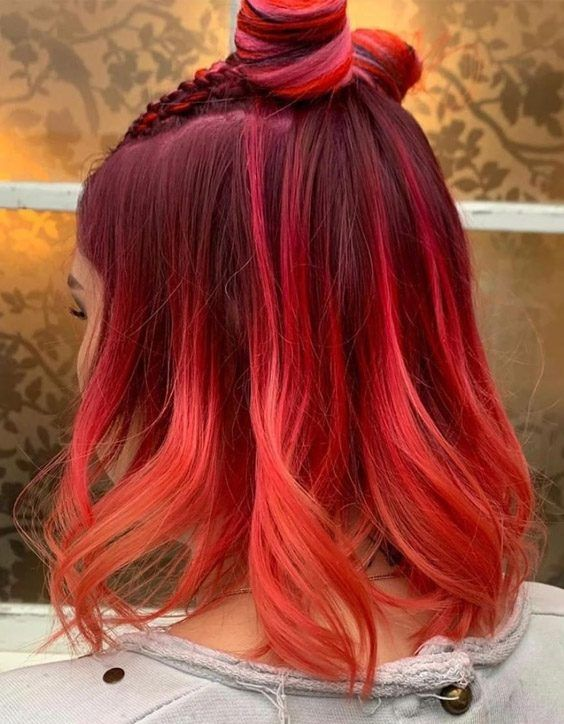 Brilliant Style Of Red Hair Color For Medium Length Hair Medium Length Hair Styles Medium Red Hair Short Red Hair