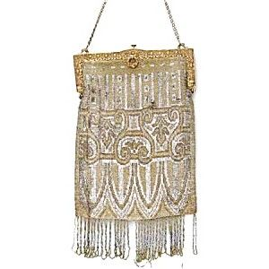 Circa 1920 Beaded Bag (hats, purses, gloves and accessories) at fleatique.