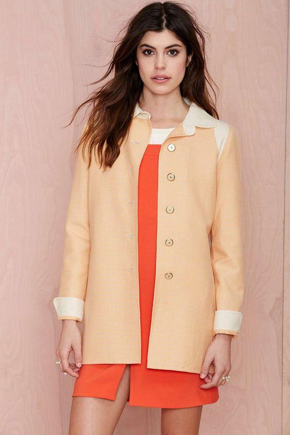 Vintage Oscar De La Renta Bijou Coat