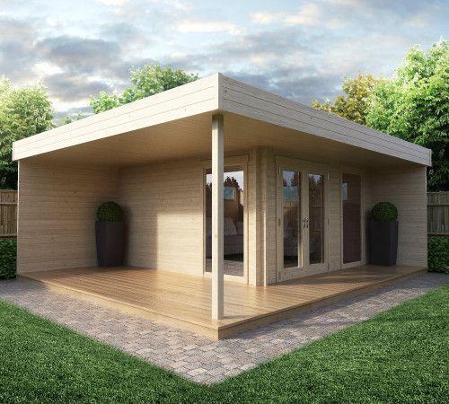 Modernes Gartenhaus Mit Terrasse Hansa Lounge | Moderne Gartenhäuser |  Pinterest | Gartenhaus Mit Terrasse, Gartenhäuser Und Lounges
