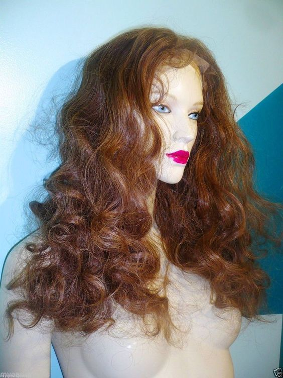"Full Lace Thin Skin Wig 100% Human Hair Indian Remi Remy 18"" Bodywave Brown #6 #Unbranded #FullWig"
