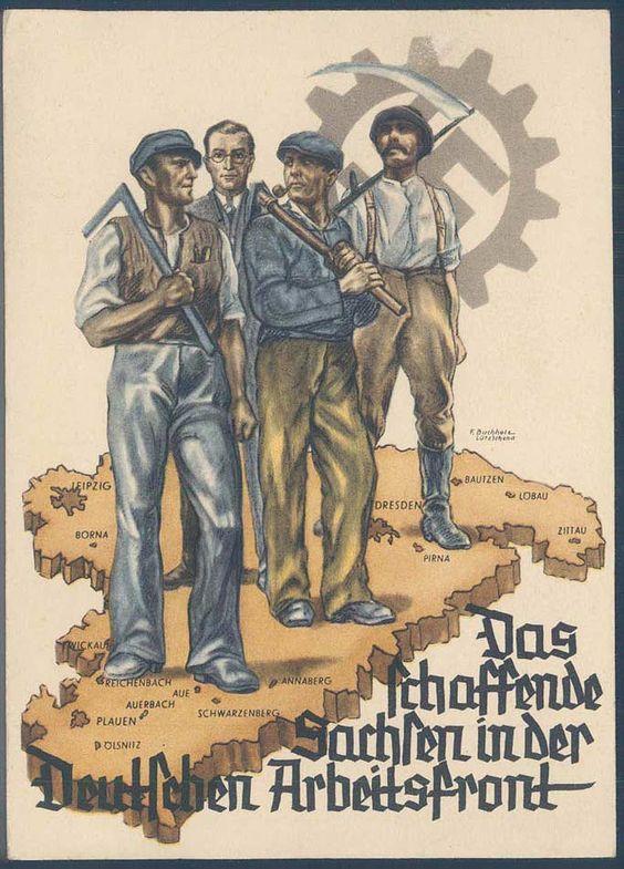 """""""Das schaffende Sachsen in der Deutschen Arbeitsfront"""" published by the Deutsche Arbeitsfront, Gauwaltung Sachsen, on occasion of the Gauarb..."""