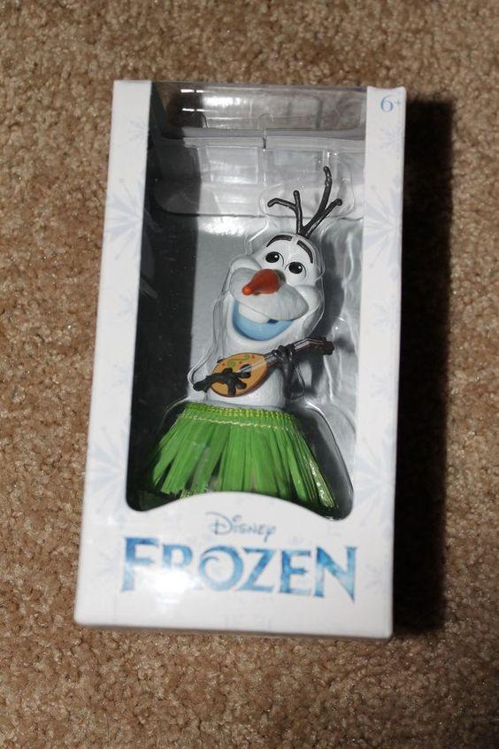 Disney FROZEN Olaf in Hula Skirt Snowman Bobble Head Figure NEW in Box #DisneyStore