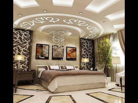 ديكورات غرف نوم جبس استخدام الجبس في ديكورات غرف النوم أصبح الجبس من أكثر الخامات التي شاع ا Luxurious Bedrooms Modern Luxury Bedroom Interior Design Bedroom