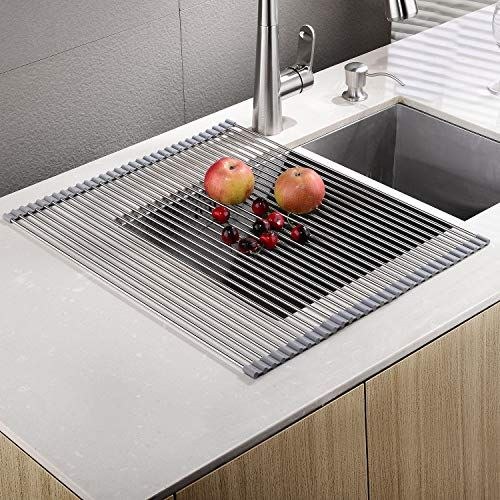 Embather Sturdy Extra Large Multipurpose No Occupying Sp Https Www Amazon Com Dp B06vv98h5h Ref Cm Sw Dish Rack Drying Stainless Steel Sinks Drying Rack