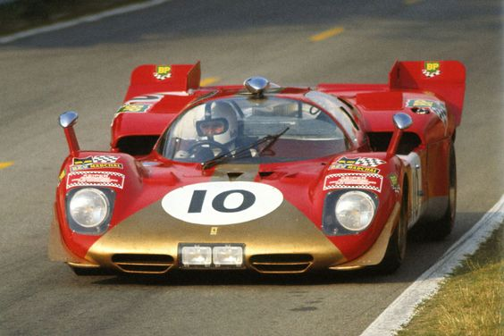 Helmut Kelleners / Georg Loos, #10 Ferrari 512 S, (Gelo Racing Team / NART), 24 Hours Le Mans 1970