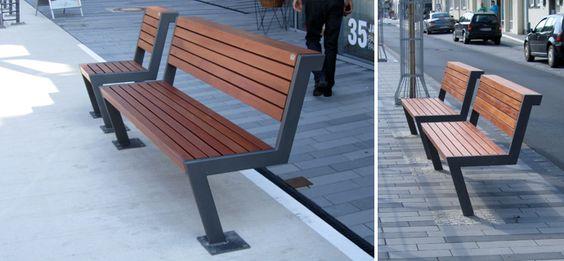 Henne, Stadtmobiliar, public design, Bänke, Tische, Sitzbänke, Hockerbänke, Seating & tables, Rundbänke