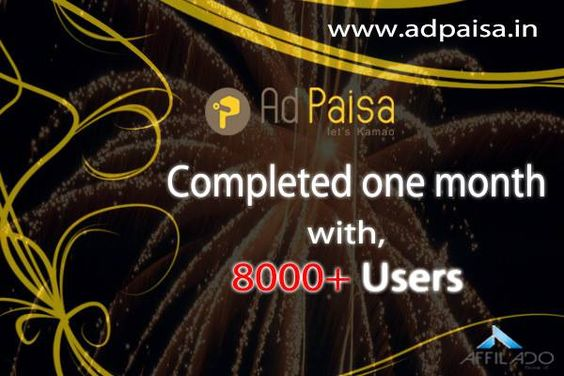 We Completed our one month successfully...!! #adpaisa