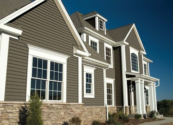 Vinyl siding color combinations sovereign select trilogy for Exterior siding design
