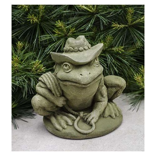 Found it at Wayfair - Cowboy Frog Statue