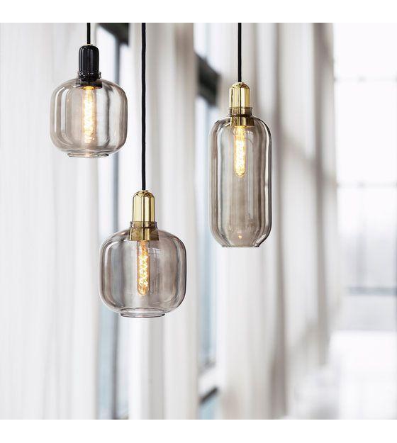 Normann Copenhagen Hanglamp Amp Zwart Glas Marmer O11 2x26cm Normann Copenhagen Lamp Normann Copenhagen Amp Decorative Light Bulbs