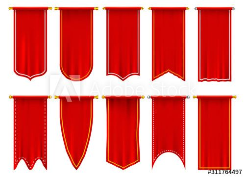 Vertical Red Flags Or Banners 3d Pennant Sponsored Red Vertical Flags Pennant Banners Ad In 2020 Red Flag Pennant Valentine Cards Handmade