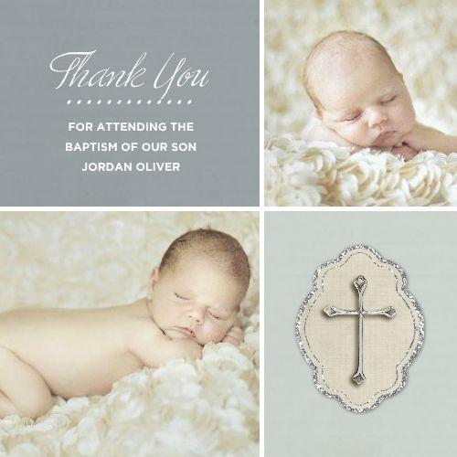 Modern Girl Baptism Thank You Card | Dots, Brown and Baptism thank ...