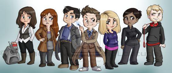K-9, Sarah Jane Smith, Donna Noble, Jack Harkness, The (10th) Doctor, Rose Tyler, Martha Jones, The Master