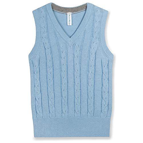 Benito /& Benita Boys Sweater Vest V-Neck Cable Knit Pullovers School Uniforms for Kids
