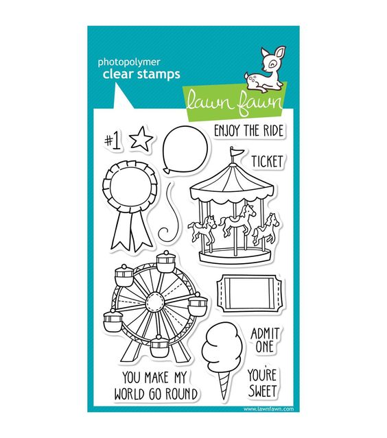"""Lawn Fawn Clear Stamps 4""""X6""""-Admit 1. I could use this to decorate the week we go to the rodeo carnival. Or, better yet, the state fair!"""