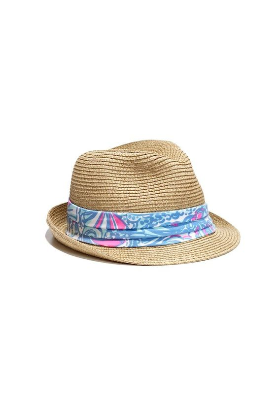 LillyPulitzerforTarget_fedora with multi floral print band