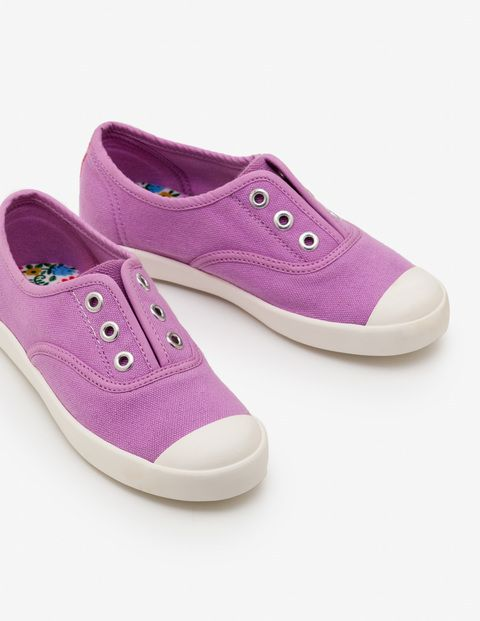Laceless Canvas Sneakers | Girls shoes
