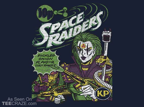 Space Raiders 1980s T-Shirt