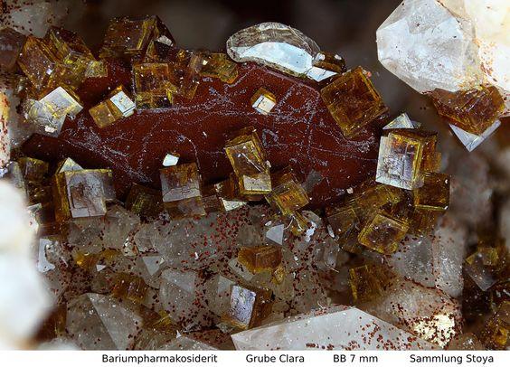 Bariunpharmakosiderit   Clara Mine, Rankach valley, Oberwolfach, Wolfach, Black Forest, Baden-Württemberg, Germany Copyright © Stoya