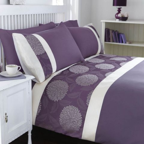 catherine lansfield mei purple bedding set next day. Black Bedroom Furniture Sets. Home Design Ideas