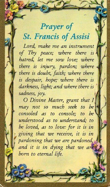 Superb image for st francis prayer printable