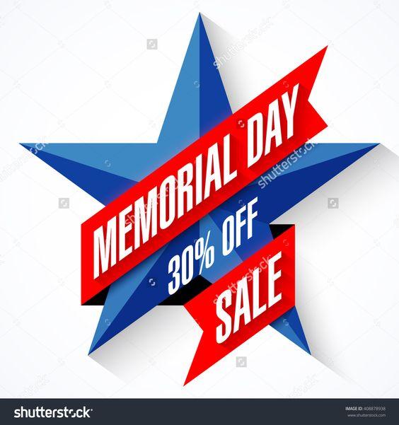 Memorial Day Sale Banner Vector Illustration - 408878938 : Shutterstock